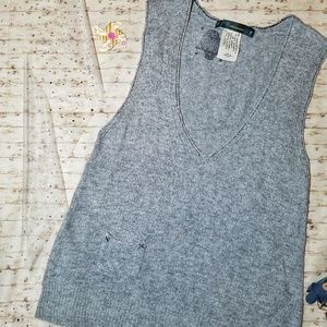 Cartonnier Anthro Grey Sweatervest Wool Blend S